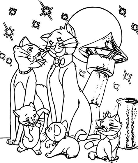 coloring page the family disney the aristocats coloring page wecoloringpage
