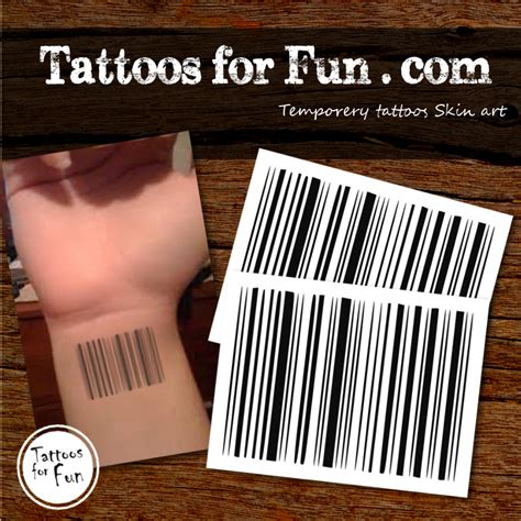 barcode tattoo setting barcode temporary tattoo tattoos for fun