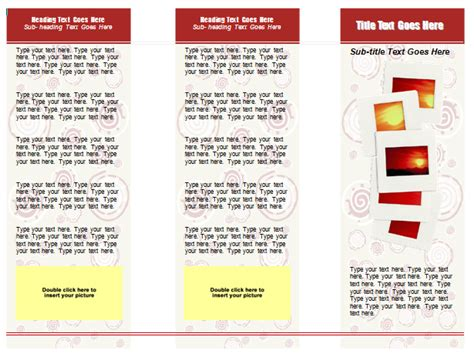 best photos of free microsoft word tri fold templates