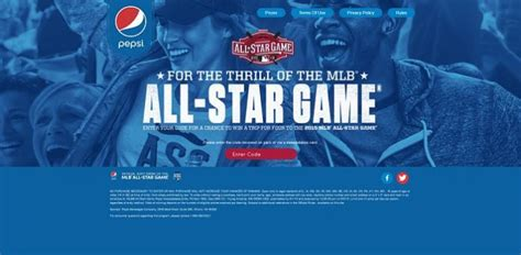 Pepsi Mlb Sweepstakes - pepsithrill com mlb all star game sweepstakes presented by pepsi