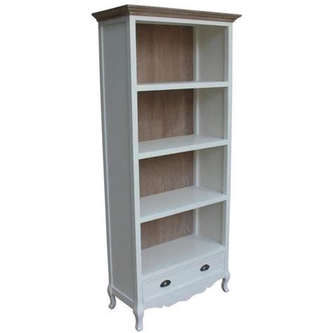 White Bookcase With Drawer Provencal 83x184x37 Etnicart White Bookcase With Drawer