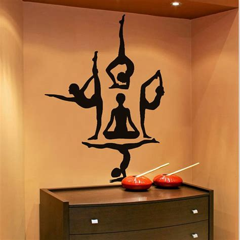 home decor stickers wall free shipping wall stickers poses om aum wall