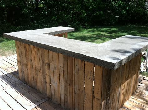 concrete bar top on outdoor bar the shack