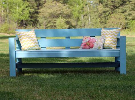ana white garden bench ana white build a modern park bench free and easy diy