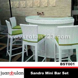 Kursi Bar Rotan harga jual sandro mini bar set kursi meja bar rotan sintetis model gambar