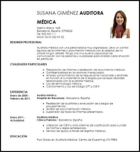 Modelo Curriculum Vitae De Medico Modelo Curriculum Vitae Auditor M 233 Dico Livecareer