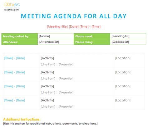 workshop agenda template microsoft word meeting agenda template all day dotxes