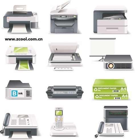 Used Office Supplies by Office Equipment Icon Vector Free Vector 4vector