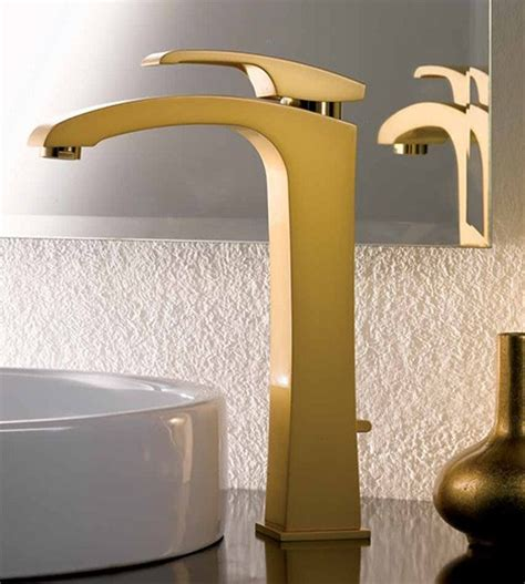 bathrooms with gold fixtures gold faucet from newform interior
