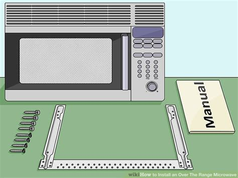 how to install the range microwave without a cabinet how to install an the range microwave 15 steps