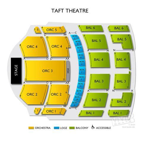taft theater seating map taft theatre seating chart seats