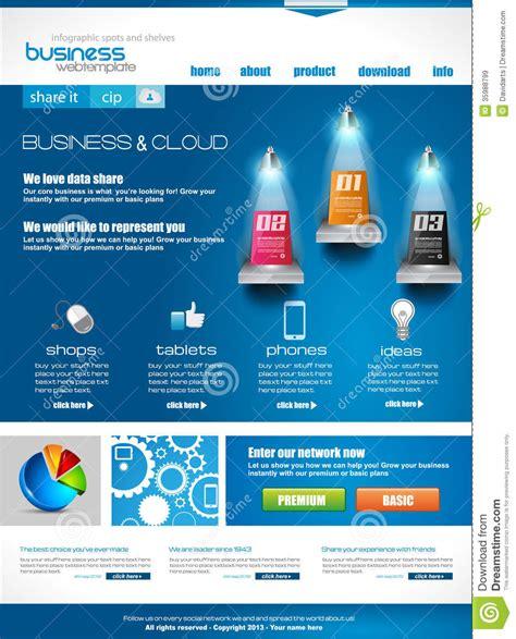 Modern Web Template For Blogs Stock Photo Cartoondealer Com 28627530 Modern Business Website Templates