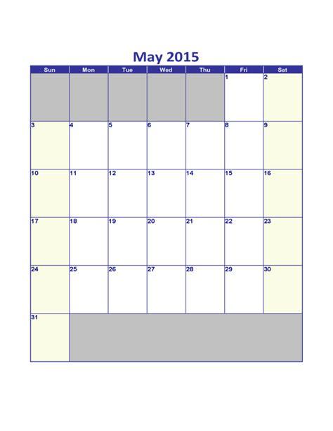 Calendar Of May 2015 May 2015 Calendar Free