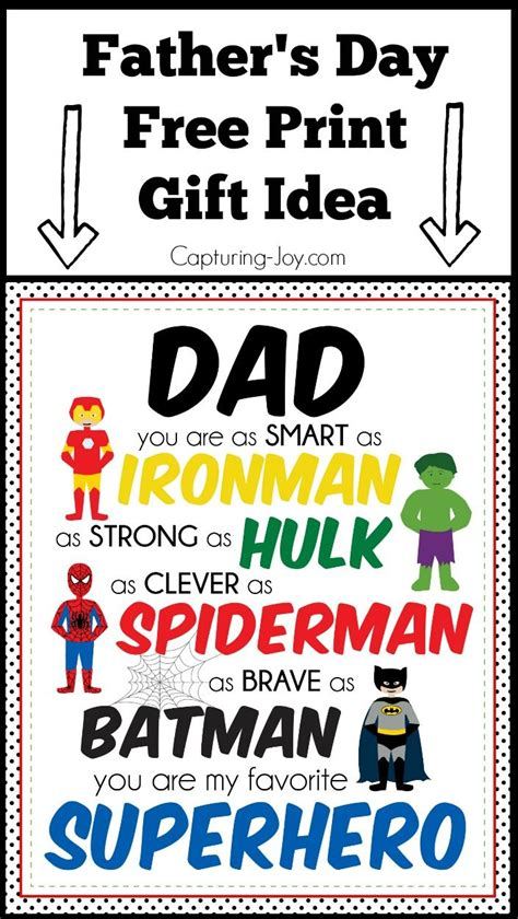 printable superhero quotes superhero father s day gift idea print print