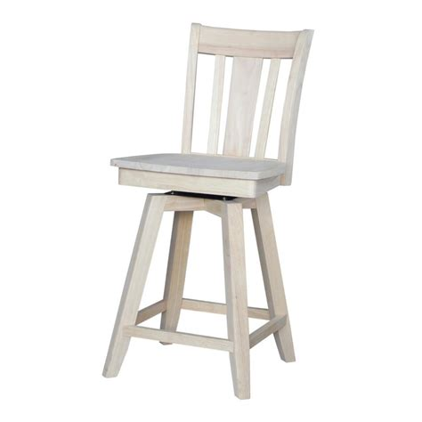 Unfinished Wood Bar Stool International Concepts 30 In Unfinished Wood Swivel Bar Stool 285 30 The Home Depot