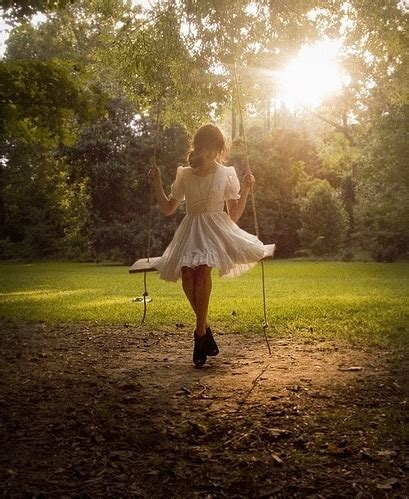the girl in the swing cute dress girl romantic swing image 95707 on favim com