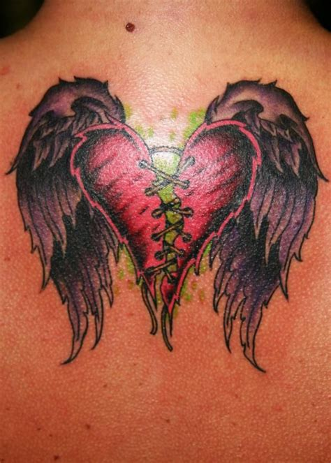 broken heart healing thru heaven badass skin art