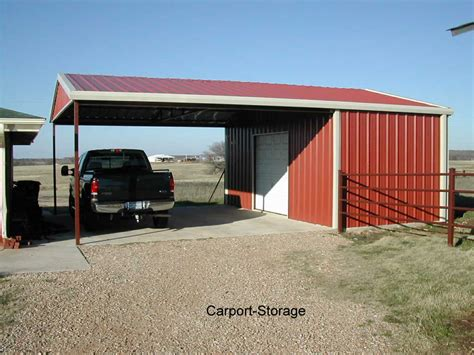 Awning Shed by Storage Shed With Carport Quality Metal Buildings