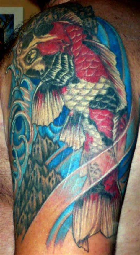 koi tattoo half sleeve price koi half sleeve tattoo