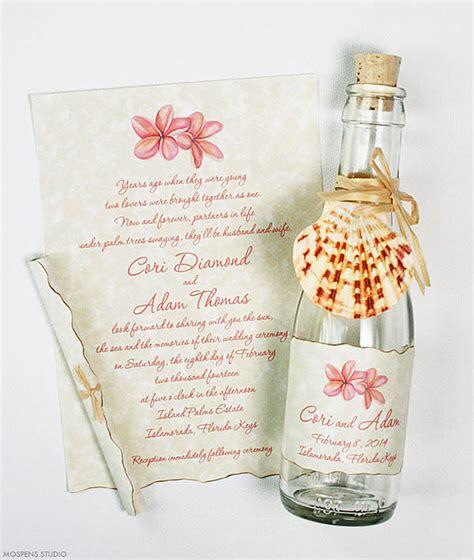 wedding invitations in a bottle 21 bottle wedding invitation ideas mospens studio