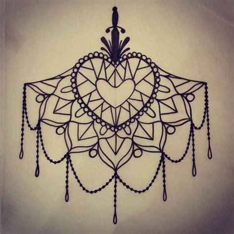 tattoo mandala diamond chest tattoos lace sketches поиск в google рисунки