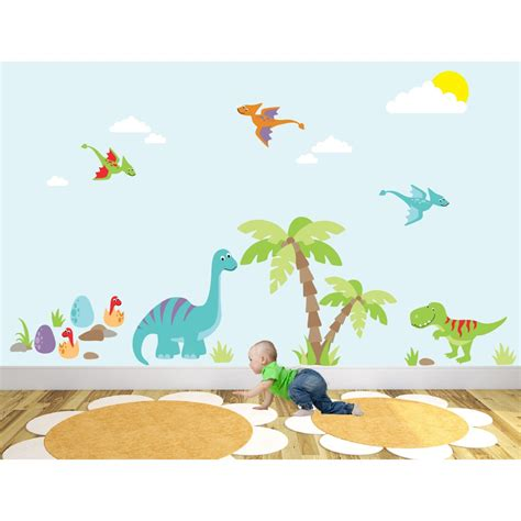 dinosaur wall stickers luxury dinosaur nursery wall sticker
