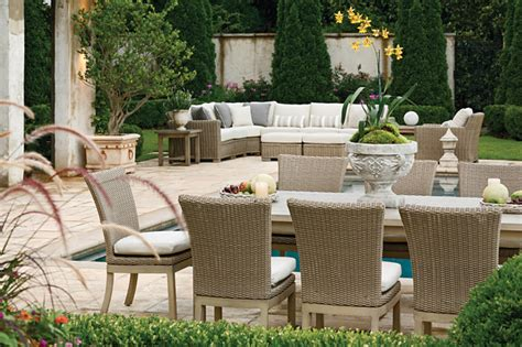 Outdoor Sectional Sofa And Patio Dining Set In Resin Summer Patio Furniture