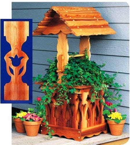 wood pattern for wishing well wishing well planter plans woodworking projects plans