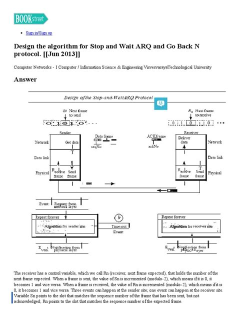 newspaper layout algorithm design the algorithm for stop and wait arq and go back n
