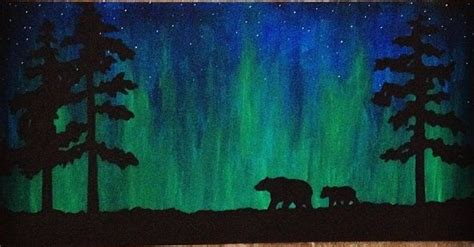 northern lights painting painting ideas search this and painting canvas