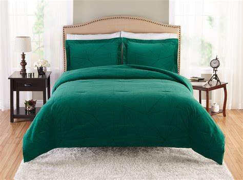 homes  gardens emerald comforter  sham set