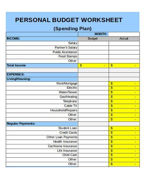 living budget template 25 budget templates in excel free premium templates