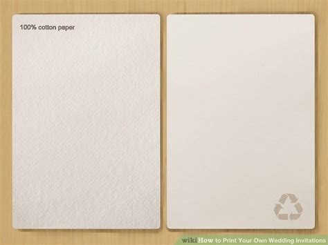 Print Your Own Wedding Invitations by 7 Ways To Print Your Own Wedding Invitations Wikihow
