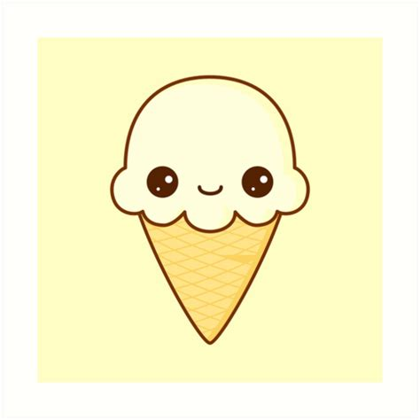 Wall Art Stickers Nursery quot kawaii happy vanilla ice cream cone quot art prints by