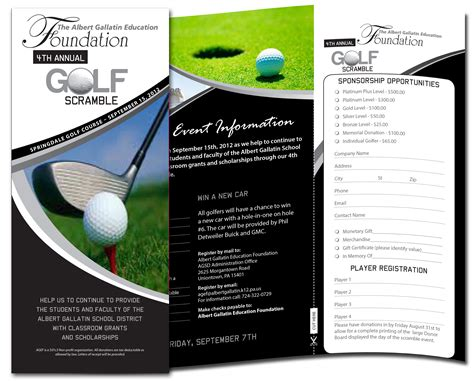 golf brochure template pin by alan laick on laick design projects