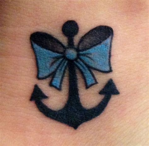 girly anchor tattoos girly