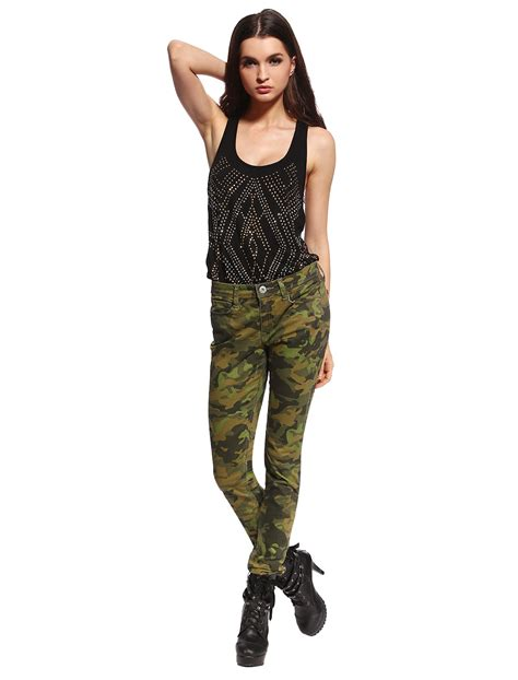 Hotpants Hotpant Army womens camo low rise camouflage