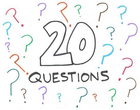 questions to use during a of quot 20 questions quot