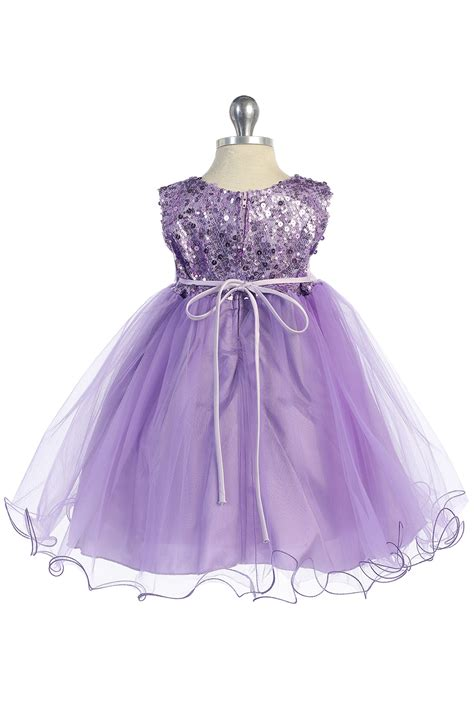 lavender sequin tulle infant flower girl dress