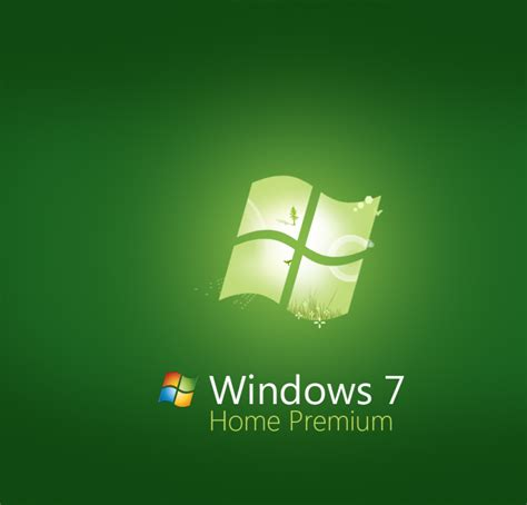green windows 7 home premium wallpaper high definition