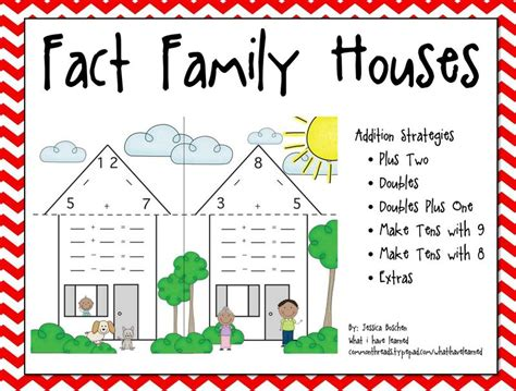 first grade information families of fact fact family houses