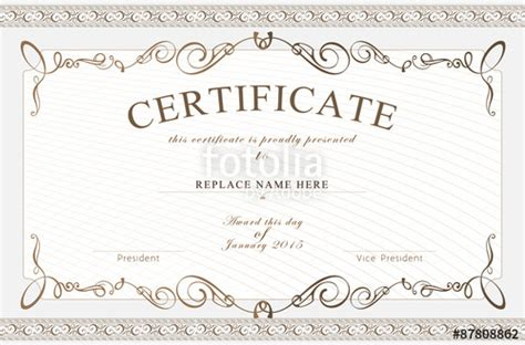 high resolution certificate template quot certificate border certificate template vector