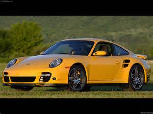 Yellow Porsche 911 2007 Yellow Porsche 911 Turbo Wallpapers