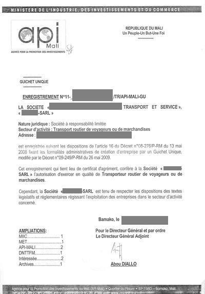 eRegulations Mali