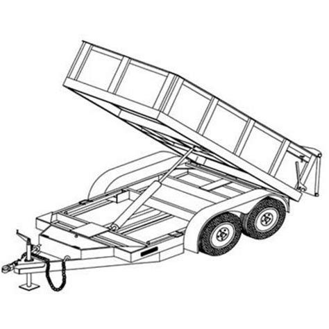 how to draw a boat on a trailer hydraulic dump trailer blueprints northern tool equipment