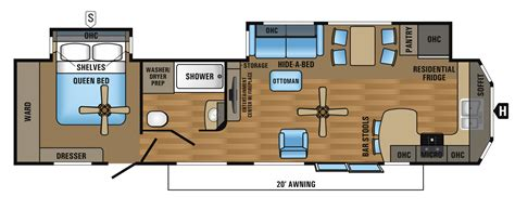 trailer floor plans 2016 jay flight bungalow travel 2017 jay flight bungalow 40fkds jayco inc