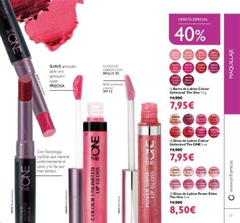 Oriflame The One Colour Unlimited Lip Gloss Evermore 30642 cat 225 logo 8 oriflame espa 241 a