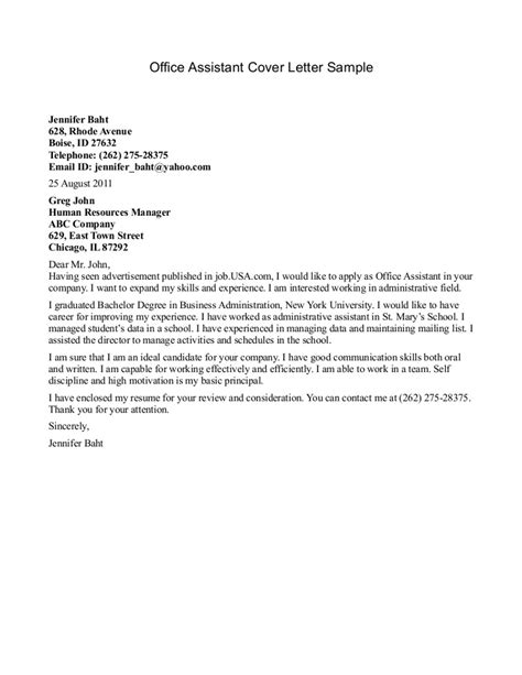 Dental Assistant Cover Letter Sles by Best Photos Of Office Letter Format Office Assistant