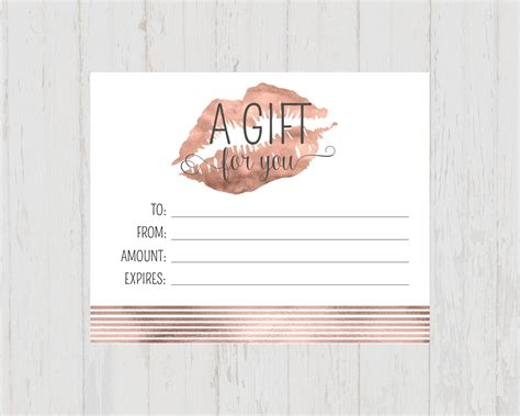 make up gift card template editable lipsense gift certificate lipsense printable