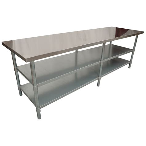 kitchen work bench table 2134 x 610mm new kitchen food work bench table 2